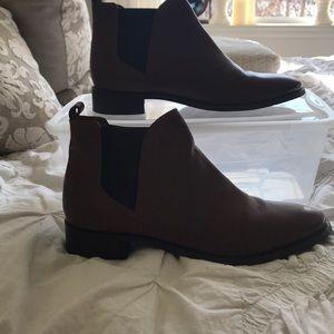 Topshop brown leather booties